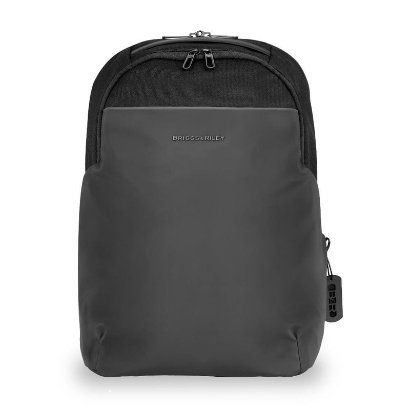 Briggs & Riley Delve Medium Backpack in Black front view