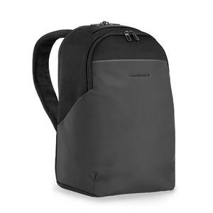 Briggs & Riley Delve Medium Backpack in Black side view