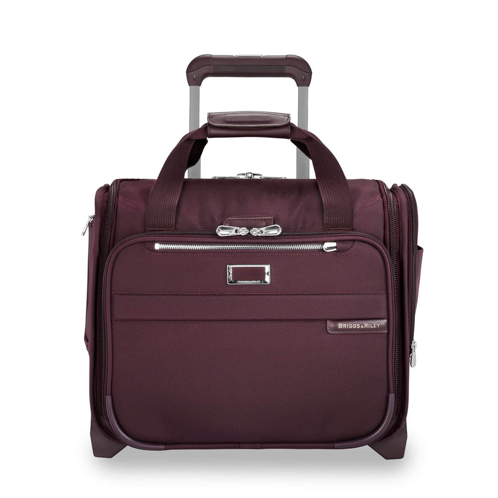 Briggs & Riley Baseline Rolling Cabin Bag in Plum front view