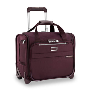 Briggs & Riley Baseline Rolling Cabin Bag in Plum corner view