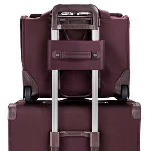 Briggs & Riley Baseline Rolling Cabin Bag in Plum back view