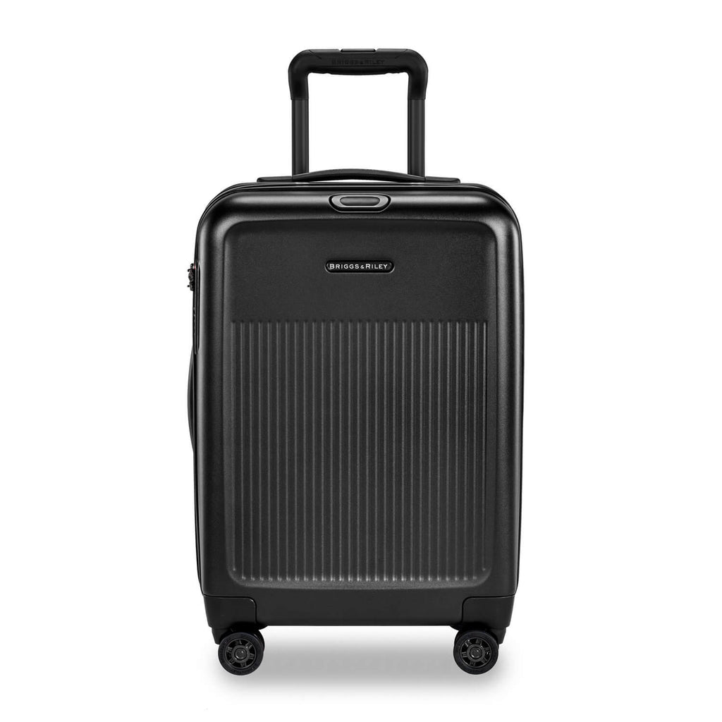 Briggs & Riley Sympatico International Carry-On Expandable Spinner in Black front view
