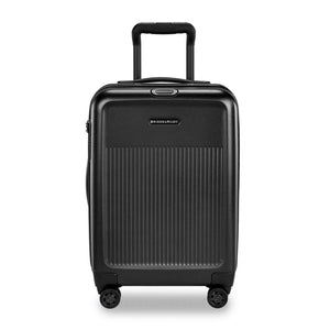 Briggs & Riley Sympatico Domestic Carry-On Expandable Spinner in Black front view