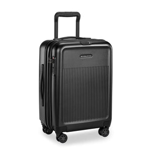 Briggs & Riley Sympatico International Carry-On Expandable Spinner in Black corner view