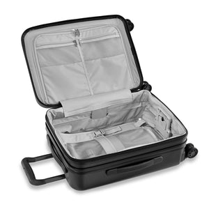 Briggs & Riley Sympatico Domestic Carry-On Expandable Spinner in Black inside view