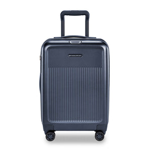 Briggs & Riley Sympatico International Carry-On Expandable Spinner in Navy front view