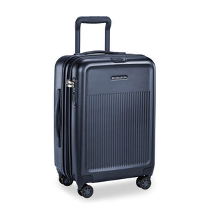 Briggs & Riley Sympatico International Carry-On Expandable Spinner in Navy side view