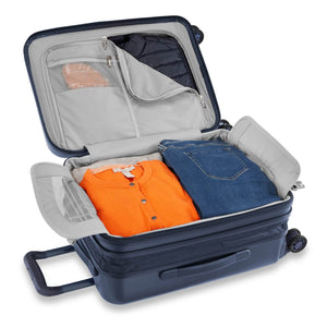 Briggs & Riley Sympatico International Carry-On Expandable Spinner in Navy packed view