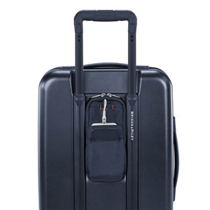 Briggs & Riley Sympatico Domestic Carry-On Expandable Spinner in Navy rear pocket