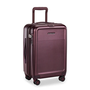 Briggs & Riley Sympatico International Carry-On Expandable Spinner in Plum side view