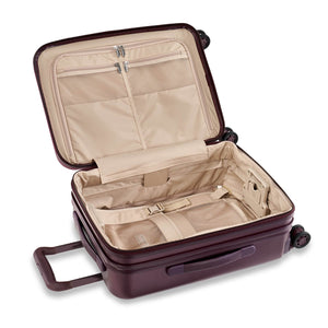 Briggs & Riley Sympatico Domestic Carry-On Expandable Spinner in Plum inside view