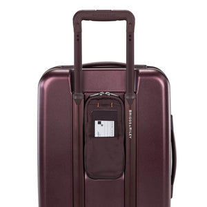 Briggs & Riley Sympatico International Carry-On Expandable Spinner in Plum rear pocket