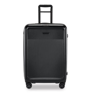 Briggs & Riley Sympatico Medium Spinner Expandable in Black front view