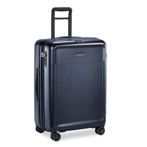 Briggs & Riley Sympatico Medium Spinner Expandable in Navy side view