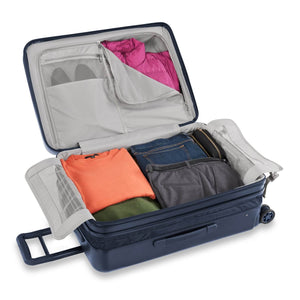 Briggs & Riley Sympatico Medium Spinner Expandable in Navy packed view