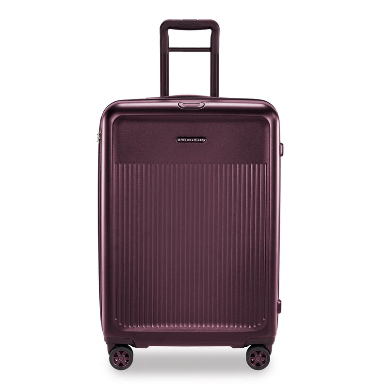 Briggs & Riley Sympatico Medium Spinner Expandable in Plum front view