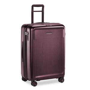 Briggs & Riley Sympatico Medium Spinner Expandable in Plum side view
