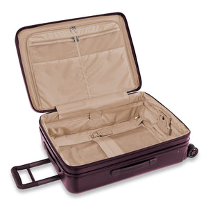 Briggs & Riley Sympatico Medium Spinner Expandable in Plum inside view