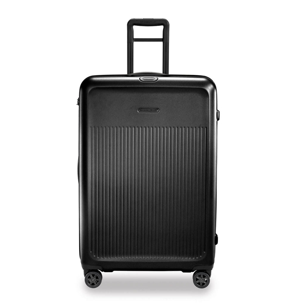 Briggs & Riley Sympatico Large Expandable Spinner in Black front view