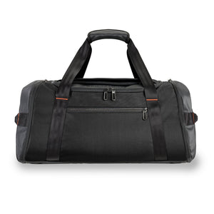 Briggs & Riley ZDX Large Travel Duffle in Black front view