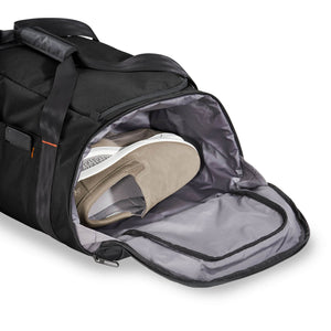 Briggs & Riley ZDX Large Travel Duffle in Black side pocket
