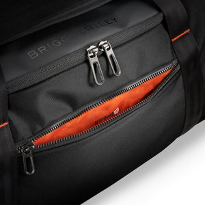 Briggs & Riley ZDX Large Travel Duffle in Black RFID pocket
