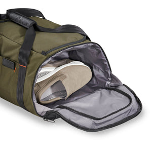 Briggs & Riley ZDX Large Travel Duffle in Hunter side pocket