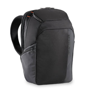 Briggs & Riley ZDX Cargo Backpack in Black corner view