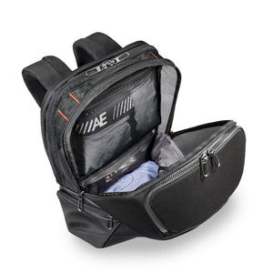 Briggs & Riley ZDX Cargo Backpack in Black main compartment