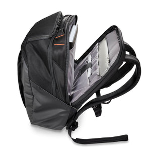 Briggs & Riley ZDX Cargo Backpack in Black laptop compartment