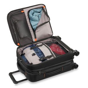 Briggs & Riley ZDX Domestic Carry-On Expandable in Black packed view