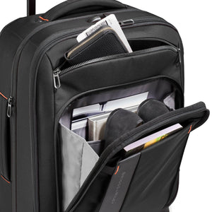 Briggs & Riley ZDX Domestic Carry-On Expandable in Black front pockets