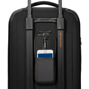 Briggs & Riley ZDX Domestic Carry-On Expandable in Black back pocket