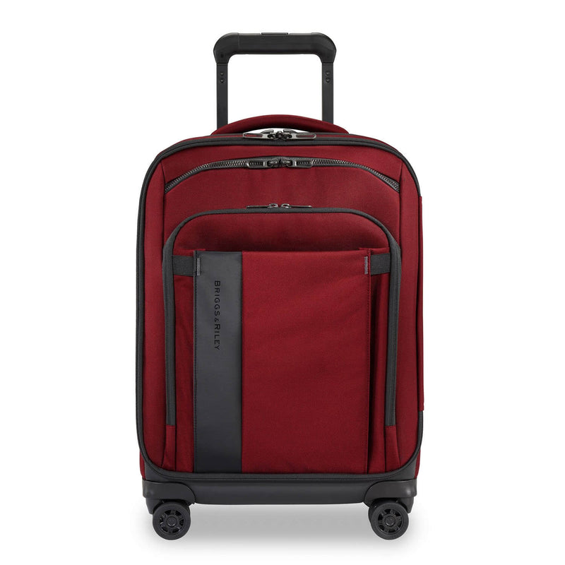 Briggs & Riley ZDX Domestic Carry-On Expandable in Brick front view