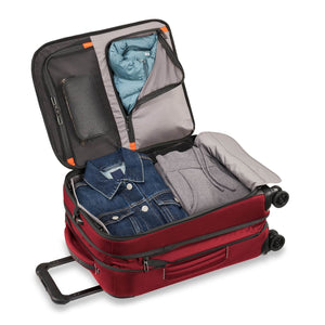 Briggs & Riley ZDX Domestic Carry-On Expandable in Brick packed view