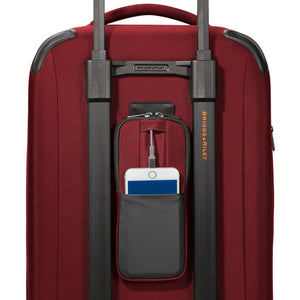 Briggs & Riley ZDX Domestic Carry-On Expandable in Brick rear pocket