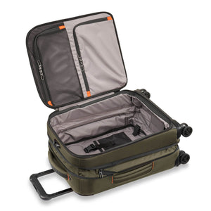Briggs & Riley ZDX Domestic Carry-On Expandable in Hunter open view