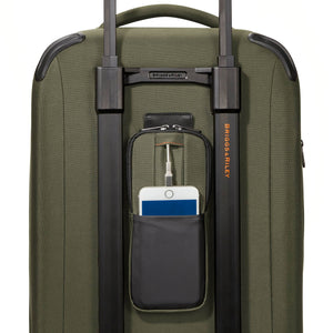 Briggs & Riley ZDX Domestic Carry-On Expandable in Hunter rear pocket