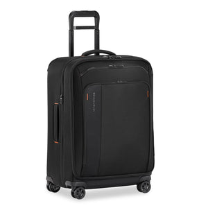 Briggs & Riley ZDX Medium Expandable Spinner in Black side view
