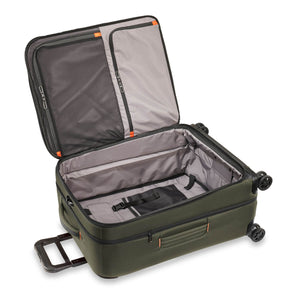 Briggs & Riley ZDX Medium Expandable Spinner in Hunter open view