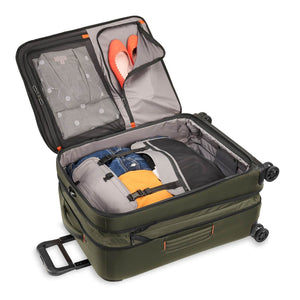 Briggs & Riley ZDX Medium Expandable Spinner in Hunter packed view