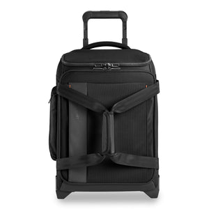 Briggs & Riley ZDX International Carry-On Upright Duffle in Black front view