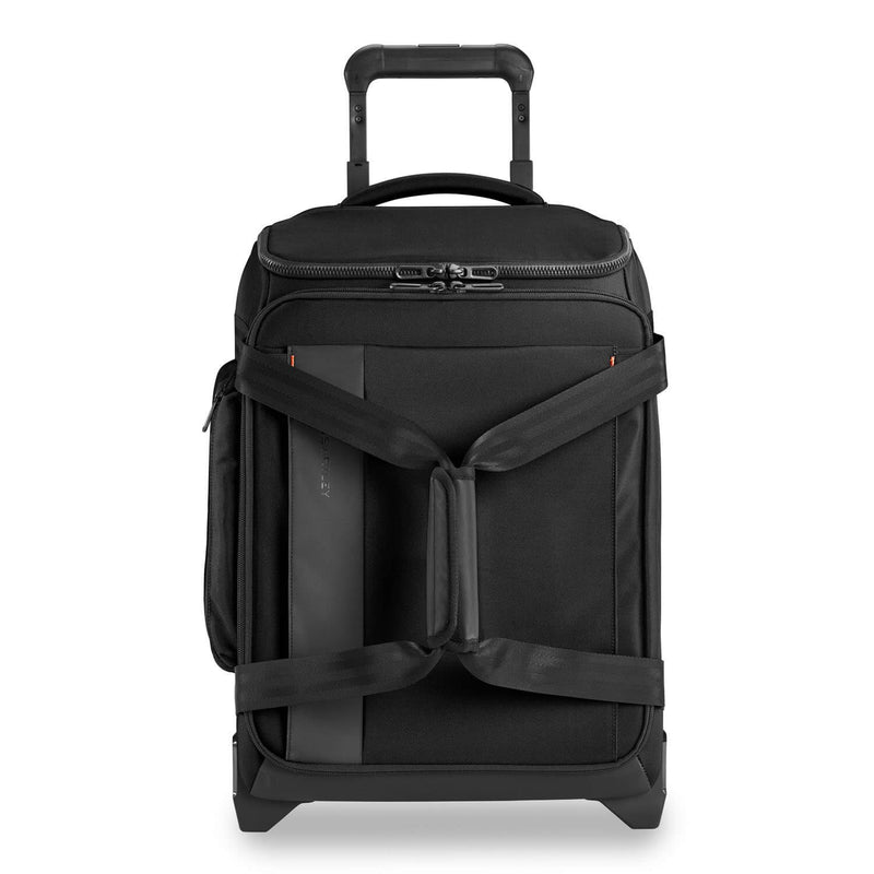 Briggs & Riley ZDX International Carry-On Upright Duffle in Brick front view