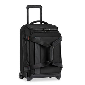 Briggs & Riley ZDX International Carry-On Upright Duffle in Black side view