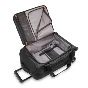 Briggs & Riley ZDX International Carry-On Upright Duffle in Black inside view