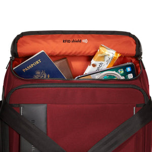Briggs & Riley ZDX International Carry-On Upright Duffle in Brick RFID shield