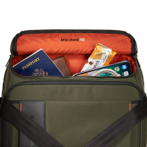 Briggs & Riley ZDX International Carry-On Upright Duffle in Hunter RFID shield