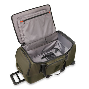 Briggs & Riley ZDX Medium Upright Duffle in Hunter inside view
