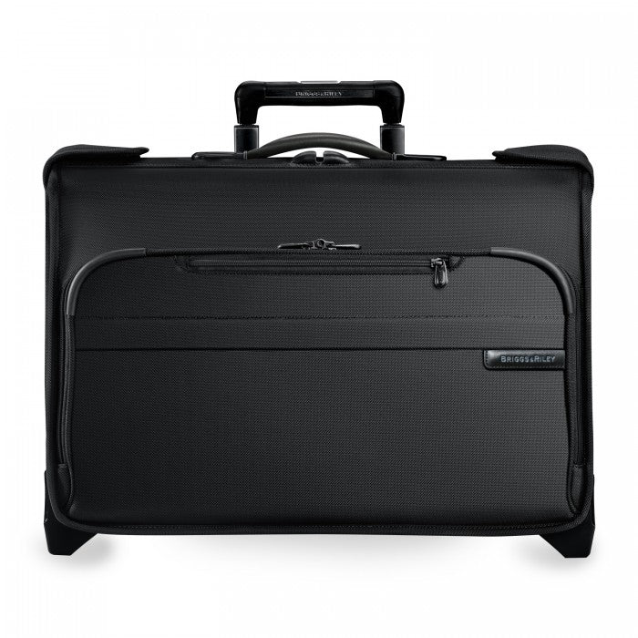 Briggs & Riley Baseline Carry-On Wheeled Garment Bag in Black front view