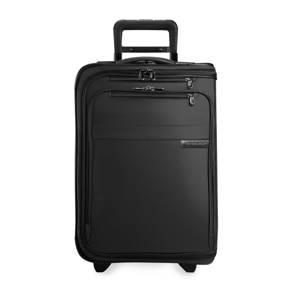 Briggs & Riley Baseline Domestic Carry-On Upright Garment Bag in Black front view